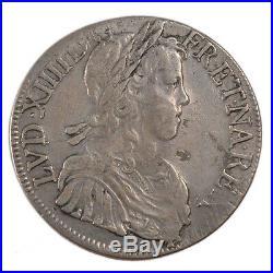 Monnaies, Louis XIV, Écu à la Mèche Longue #53065