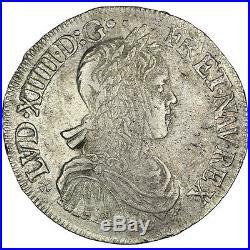 Monnaies, Louis XIV, Écu à la mèche longue #30719