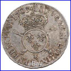 Monnaies, Louis XIV, ½ Ecu aux Insignes #23468