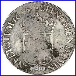 Monnaies, Louis XIV, Écu de Navarre à la mèche longue #30720