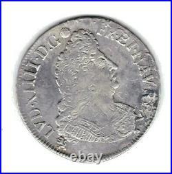 (N°142) LOUIS XIV DEMI ECU AUX PALMES 1694 (9) RENNES (TB+ à TTB-) RF
