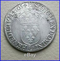 N°70 Louis XIV 1/ Ecu. 1650 L Bayonne (croix de Malte sous le buste) RARE