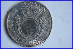 Piece de monnaie argent Louis XIV Demi-écu aux palmes 1695 A (33388)