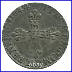 Quart d'Ecu Louis XIV 1644