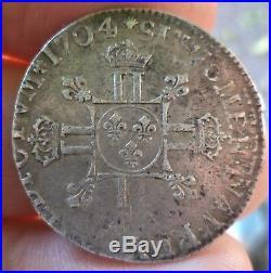 R1 LOUIS XIV QUART D'ECU AUX 8 L 2eme TYPE 1704 PARIS