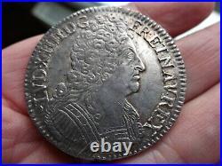 Rare Ecu De Louis XIV Aux 3 Couronnes De 1712h