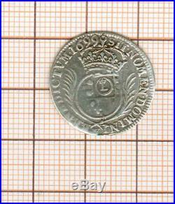 Rare millésime 1/12 è d'écu aux palmes Louis XIV 1699 Lille