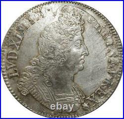 S2357 Rare Ecu Louis XIV Aux Insignes 1701 A Paris Argent Silver Qualité