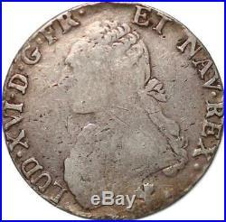 S5760 Rare Epreuve uniface d'un Ecu Louis XIV Avers Essai A identifier