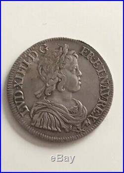 Splendide Demi Ecu Louis XIV 1643 A Point