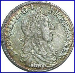 T1913 Rare 1/12 Ecu Louis XIV buste juvénile 1659 A Paris Argent Silver SUP