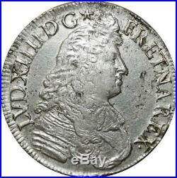 T5586 R3 Ecu Louis XIV Ecu Cravate 1678 L Bayonne Argent Faire offre