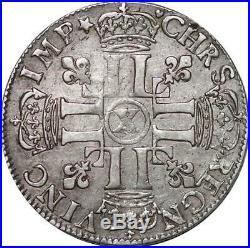 U1905 1/2 Ecu aux huit L 1690 X Amiens Louis XIV Argent Silver Faire offre