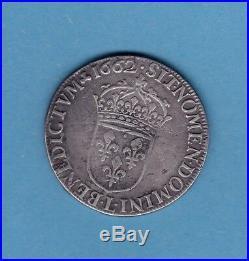 (roy. 31) Louis XIV Demi Ecu Buste Juvenile 1662 L (bayonne) Tb+/ttb